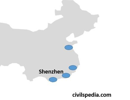 Location of SEZ in China